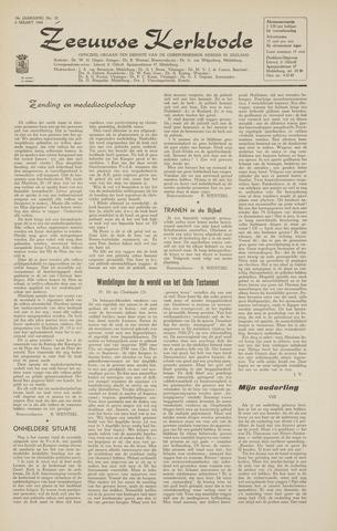 Zeeuwsche kerkbode, weekblad gewijd aan de belangen der gereformeerde kerken/ Zeeuwsch kerkblad 1964-03-06