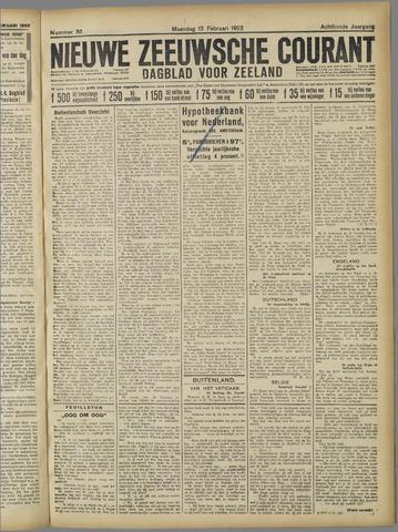 Nieuwe Zeeuwsche Courant 1922-02-13