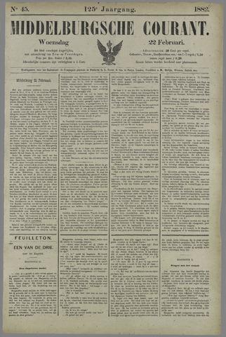 Middelburgsche Courant 1882-02-22
