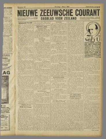 Nieuwe Zeeuwsche Courant 1921-03-01