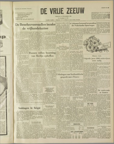 de Vrije Zeeuw 1958-11-21