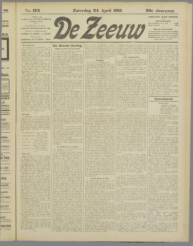De Zeeuw. Christelijk-historisch nieuwsblad voor Zeeland 1915-04-24