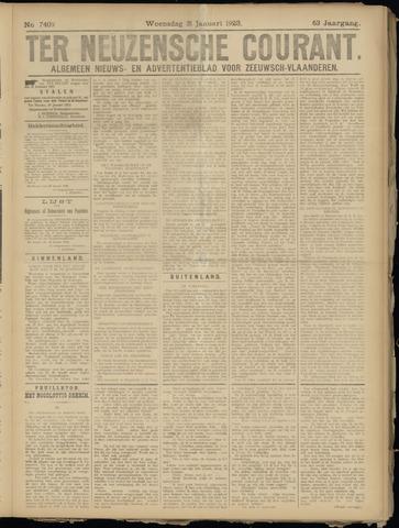 Ter Neuzensche Courant. Algemeen Nieuws- en Advertentieblad voor Zeeuwsch-Vlaanderen / Neuzensche Courant ... (idem) / (Algemeen) nieuws en advertentieblad voor Zeeuwsch-Vlaanderen 1923-01-31