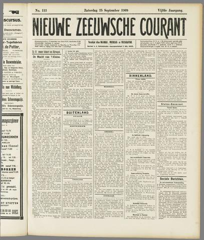 Nieuwe Zeeuwsche Courant 1909-09-25