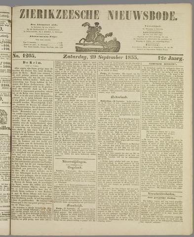 Zierikzeesche Nieuwsbode 1855-09-29