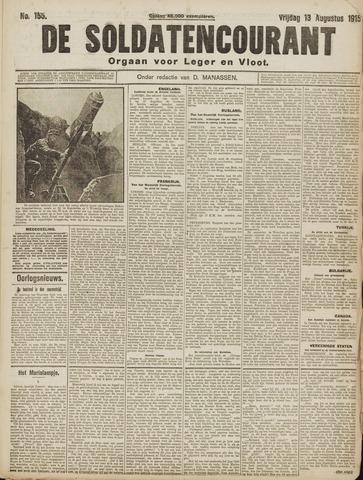 De Soldatencourant. Orgaan voor Leger en Vloot 1915-08-13
