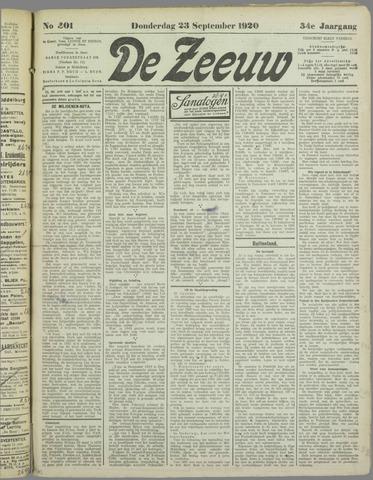 De Zeeuw. Christelijk-historisch nieuwsblad voor Zeeland 1920-09-23