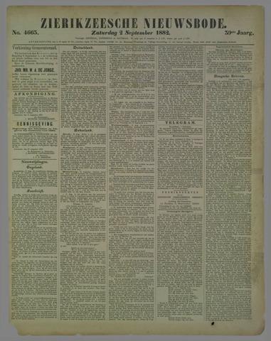 Zierikzeesche Nieuwsbode 1882-09-02