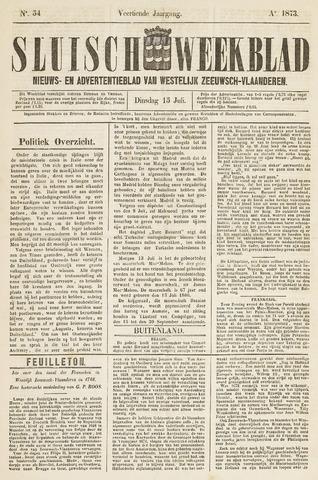 Sluisch Weekblad. Nieuws- en advertentieblad voor Westelijk Zeeuwsch-Vlaanderen 1873-07-15