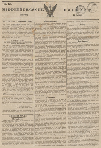 Middelburgsche Courant 1843-10-14