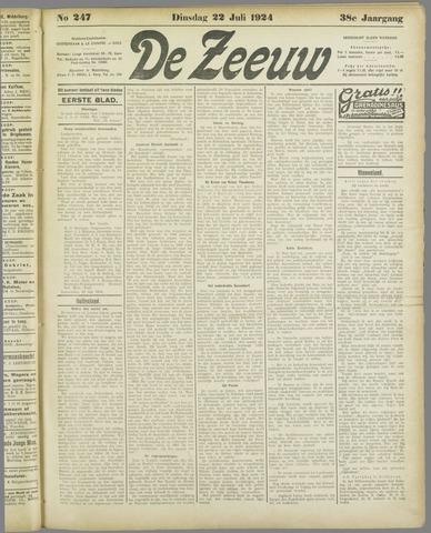 De Zeeuw. Christelijk-historisch nieuwsblad voor Zeeland 1924-07-22
