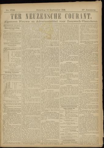 Ter Neuzensche Courant. Algemeen Nieuws- en Advertentieblad voor Zeeuwsch-Vlaanderen / Neuzensche Courant ... (idem) / (Algemeen) nieuws en advertentieblad voor Zeeuwsch-Vlaanderen 1918-09-14