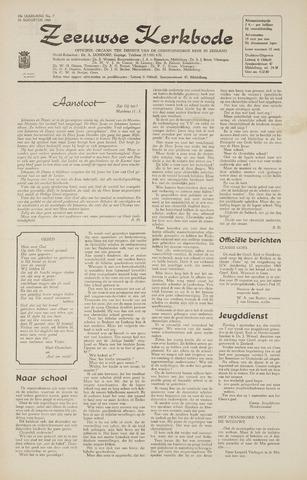 Zeeuwsche kerkbode, weekblad gewijd aan de belangen der gereformeerde kerken/ Zeeuwsch kerkblad 1968-08-22