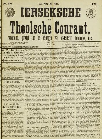 Ierseksche en Thoolsche Courant 1891-06-20