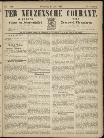 Ter Neuzensche Courant. Algemeen Nieuws- en Advertentieblad voor Zeeuwsch-Vlaanderen / Neuzensche Courant ... (idem) / (Algemeen) nieuws en advertentieblad voor Zeeuwsch-Vlaanderen 1883-07-11