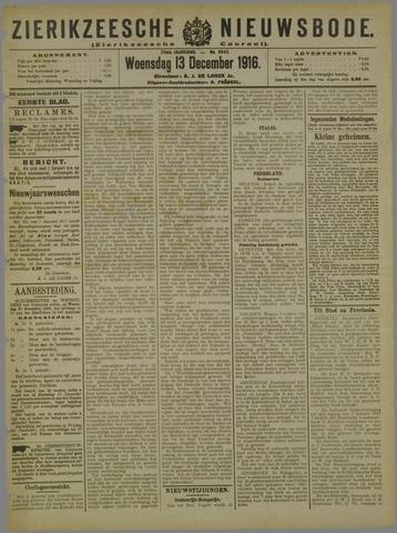 Zierikzeesche Nieuwsbode 1916-12-13