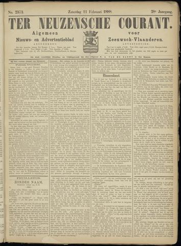 Ter Neuzensche Courant. Algemeen Nieuws- en Advertentieblad voor Zeeuwsch-Vlaanderen / Neuzensche Courant ... (idem) / (Algemeen) nieuws en advertentieblad voor Zeeuwsch-Vlaanderen 1888-02-11
