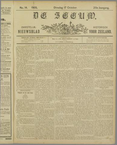 De Zeeuw. Christelijk-historisch nieuwsblad voor Zeeland 1905-10-17