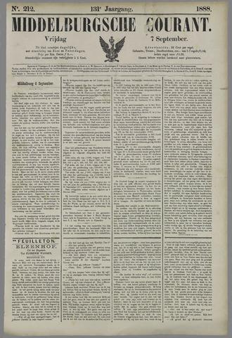 Middelburgsche Courant 1888-09-07