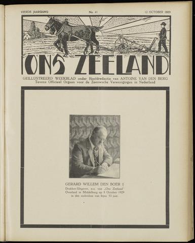 Ons Zeeland / Zeeuwsche editie 1929-10-12