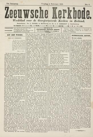 Zeeuwsche kerkbode, weekblad gewijd aan de belangen der gereformeerde kerken/ Zeeuwsch kerkblad 1916-02-04