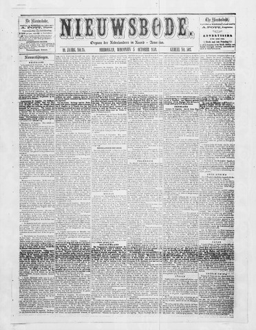Sheboygan Nieuwsbode 1859-10-05