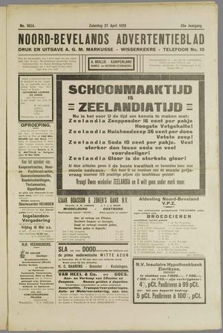 Noord-Bevelands Nieuws- en advertentieblad 1929-04-27