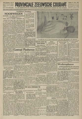 Provinciale Zeeuwse Courant 1947-02-21