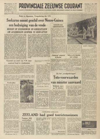 Provinciale Zeeuwse Courant 1960-10-01