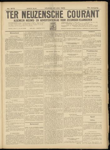 Ter Neuzensche Courant. Algemeen Nieuws- en Advertentieblad voor Zeeuwsch-Vlaanderen / Neuzensche Courant ... (idem) / (Algemeen) nieuws en advertentieblad voor Zeeuwsch-Vlaanderen 1934-07-20