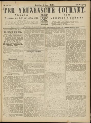 Ter Neuzensche Courant. Algemeen Nieuws- en Advertentieblad voor Zeeuwsch-Vlaanderen / Neuzensche Courant ... (idem) / (Algemeen) nieuws en advertentieblad voor Zeeuwsch-Vlaanderen 1910-03-05