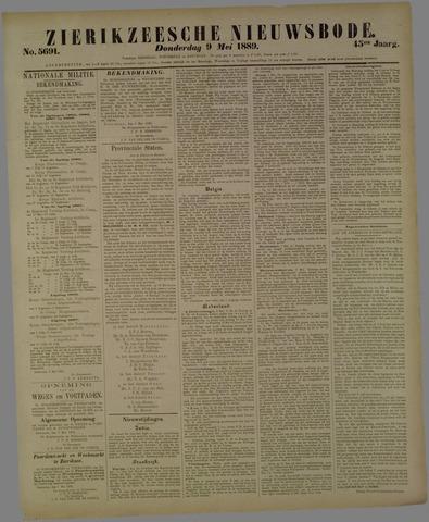 Zierikzeesche Nieuwsbode 1889-05-09
