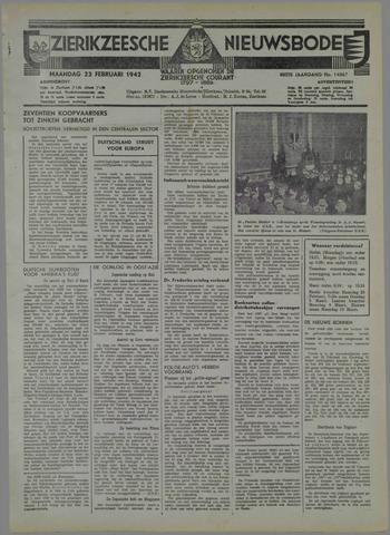 Zierikzeesche Nieuwsbode 1942-02-23