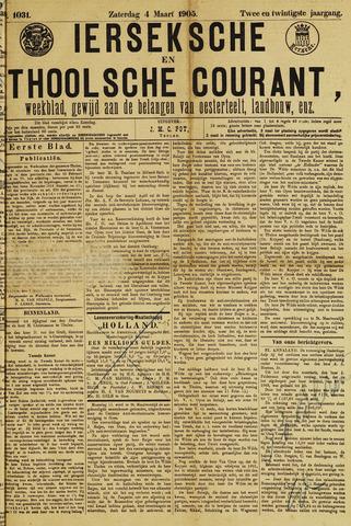 Ierseksche en Thoolsche Courant 1905-03-04