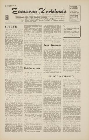 Zeeuwsche kerkbode, weekblad gewijd aan de belangen der gereformeerde kerken/ Zeeuwsch kerkblad 1964-07-24