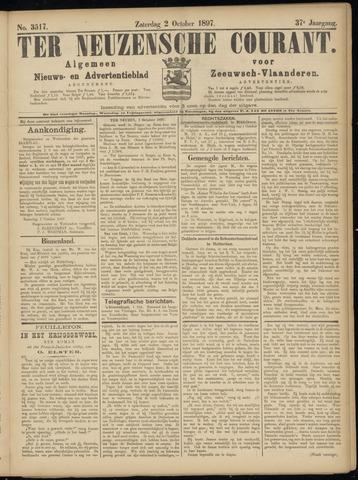 Ter Neuzensche Courant. Algemeen Nieuws- en Advertentieblad voor Zeeuwsch-Vlaanderen / Neuzensche Courant ... (idem) / (Algemeen) nieuws en advertentieblad voor Zeeuwsch-Vlaanderen 1897-10-02