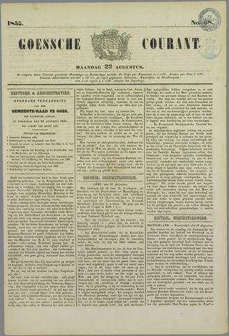 Goessche Courant 1852-08-23