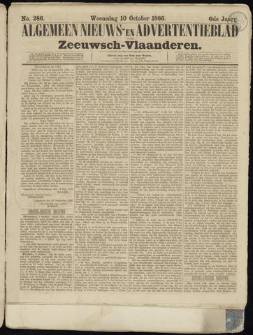 Ter Neuzensche Courant. Algemeen Nieuws- en Advertentieblad voor Zeeuwsch-Vlaanderen / Neuzensche Courant ... (idem) / (Algemeen) nieuws en advertentieblad voor Zeeuwsch-Vlaanderen 1866-10-10