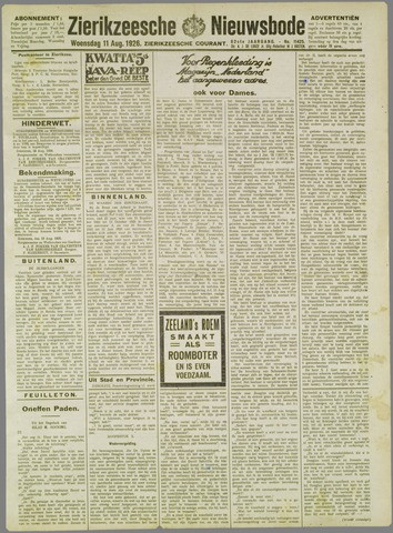 Zierikzeesche Nieuwsbode 1926-08-11