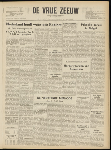 de Vrije Zeeuw 1952-09-02