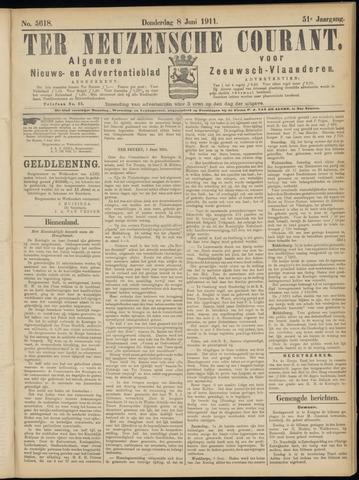 Ter Neuzensche Courant. Algemeen Nieuws- en Advertentieblad voor Zeeuwsch-Vlaanderen / Neuzensche Courant ... (idem) / (Algemeen) nieuws en advertentieblad voor Zeeuwsch-Vlaanderen 1911-06-08