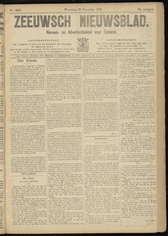 Ter Neuzensch Volksblad. Vrijzinnig nieuws- en advertentieblad voor Zeeuwsch- Vlaanderen / Zeeuwsch Nieuwsblad. Nieuws- en advertentieblad voor Zeeland 1918-11-20
