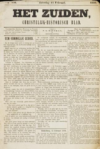 Het Zuiden, Christelijk-historisch blad 1880-02-14