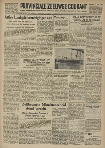 Provinciale Zeeuwse Courant 1949-10-25