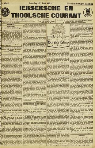 Ierseksche en Thoolsche Courant 1922-06-17