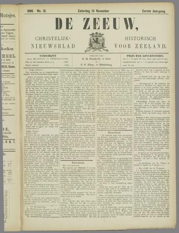 De Zeeuw. Christelijk-historisch nieuwsblad voor Zeeland 1886-11-13