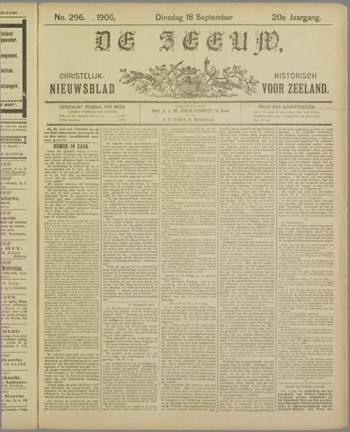 De Zeeuw. Christelijk-historisch nieuwsblad voor Zeeland 1906-09-18