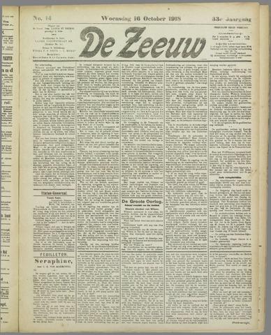 De Zeeuw. Christelijk-historisch nieuwsblad voor Zeeland 1918-10-16