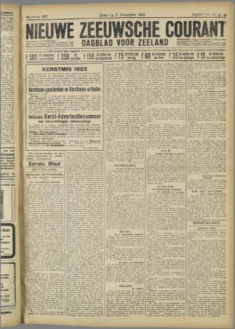 Nieuwe Zeeuwsche Courant 1922-12-09