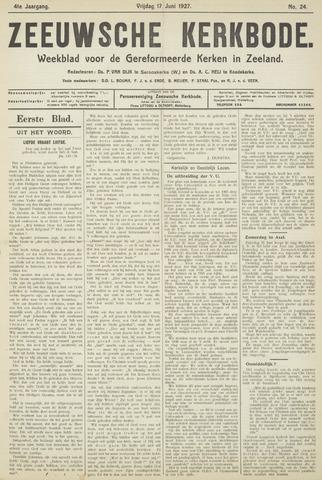 Zeeuwsche kerkbode, weekblad gewijd aan de belangen der gereformeerde kerken/ Zeeuwsch kerkblad 1927-06-17